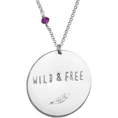 Blooming Lotus Jewelry Wild & Free Mantra Coin Necklace (89 CAD) ❤ liked on Polyvore featuring jewelry, necklaces, activewear, blooming lotus jewelry, coin necklace, coin jewellery and coin jewelry