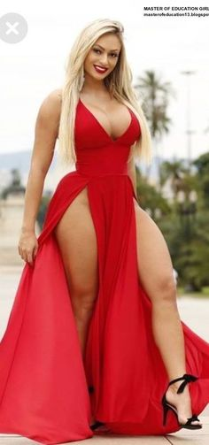370 long red dress ideas