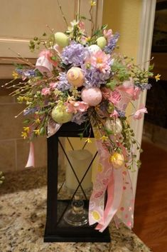 Gorgeous 65 Crafty DIY Spring and Easter Decorations Ideas On A. Best Picture For Easter Decor Ide Easter Wreaths, Christmas Wreaths, Diy Osterschmuck, Easy Diy, Diy Ostern, Diy Easter Decorations, Easter Centerpiece, Centerpiece Ideas, Table Decorations