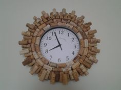 Wine Cork Clock ♡ by CorkieKay on Etsy