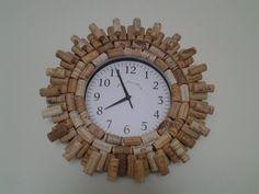 Wine Cork Clock ♡ by CorkieKay on Etsy