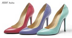 ÆLYT Anita arrow tip pump, customizable, handmade in italy with genuine leather.