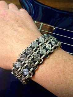 Celtic Knotwork Woven Chain Bracelet  The Polaris by LadyBassMusic