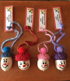 2017 DIY Christmas ornaments for my four kids. Christmas Ornaments To Make, Christmas Fairy, Homemade Christmas, Diy Holiday Gifts, Holiday Crafts For Kids, Christmas Crafts, Acorn Crafts, Theme Noel, Creations