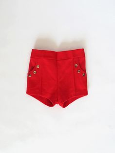 Vintage nautical red shorts : baby - Petite Boutique
