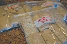 Black Bean and Rice Freezer Burritos - These have been the handiest things to have stashed away in the freezer.  We've eaten them for a quick lunch or when someone needs to have dinner at an odd time.  The heat up in the microwave and taste great.