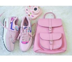 Pink trainers and Pink Bag www.grafea.co.uk