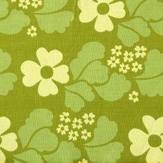 Juhani Konttinen 1967-69 chartreuse lime green mod floral pattern