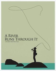 A River Runs Through It A3 Poster Print by sanasini on Etsy