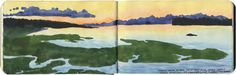 Nisqually River Delta sketch by Chandler O'Leary