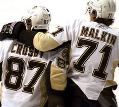Pittsburgh Penguins; Capt. Sydney Crosby and Ast. Capt. Evgeni Malkin
