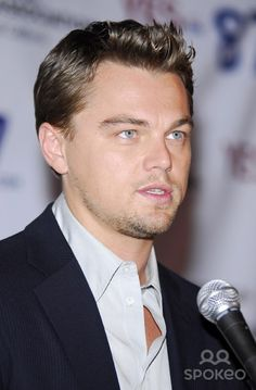 Leonardo DiCaprio speaks on behalf of 'YES ON PROP. 87' at the California Democratic Party Westside Headquarters