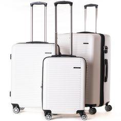 Ivory / white hard sided luggage from CalPak