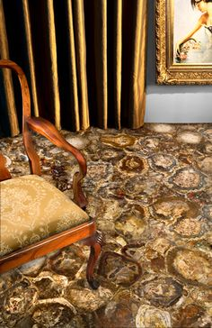 8330 Petrified Wood™ by Caesarstone Floor Ceiling, Wall And Floor Tiles, Petrified Wood, Classic Furniture, Design Inspiration, Design Ideas, Luxury Homes, Dining Chairs, Sweet Home