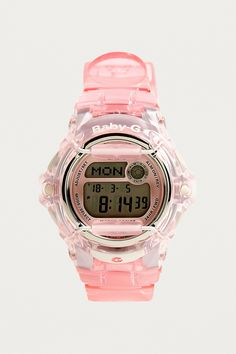 Shop Casio Clear Baby-G Watch at Urban Outfitters today. We carry all the latest styles, colours and brands for you to choose from right here. G Watch, Pink Watch, Casio Watch, Pink Accessories, Fashion Accessories, Baby G Shock, Urban Outfitters, Minimal Outfit, Watches