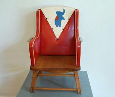 Mid Century Modern Vintage Kids Wooden Chair by TroveMarket