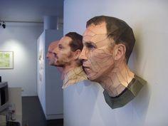 Incríveis rostos de papel em 3D