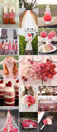 An Ombre Valentine's Wedding by Pixel & Ink Blog