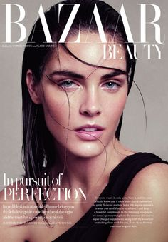 UK Harper's Bazaar November 2012 Beauty Editorial : Hilary Rhoda : Paola Kudacki | Fashion Editorials | A Photographic Collection of Trending Fashion Magazine Find your on camera editorial hair styling & Make Up looks.  #fashion & #style at Monica Hahn Photography.Editorials