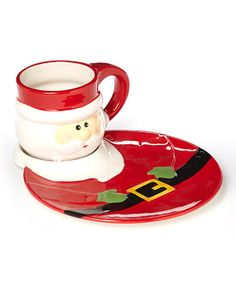 Take a look at this Santa Mug & Plate Set by Design Imports on #zulily today!