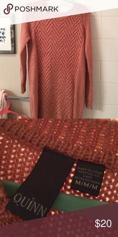 Sweater dress, size medium Pink sweater dress from Francesca's. Medium Francesca's Collections Dresses Long Sleeve