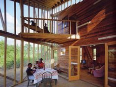 "The design of the Rural Studio's ""Butterfly House,"" built for Anderson and Ora Lee Harris Rural Studio, Harris House, Architecture Building Design, Balcony Deck, Butterfly House, House 2, House Porch, House Built, Hygge"