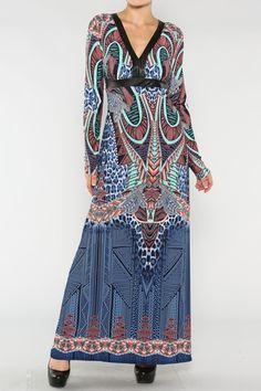 Print Kimono Dress #wholesale #egyptian #crop #tank #fashion #clothing #ootd #wiwt #shopitrightnow #tops #tribal #aztec #dress #bodycon #fall