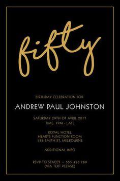 30th birthday invitation modern faux gold foil hello 30 thirty 50th birthday party invitation digital printable template elegant fifty filmwisefo