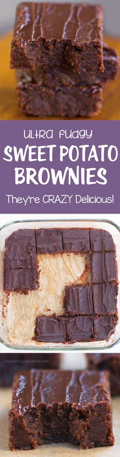 Soft, gooey, chocolatey sweet potato brownies