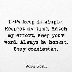 Let's keep it simple.