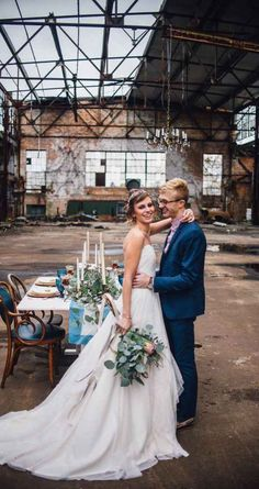 Bridal couple Abandoned warehouse for a whimsical, off-beat wedding reception Magical, Astronomy Inspired Shoot Wedding Venues, Wedding Photos, Wedding Reception, Abandoned Warehouse, Wedding Photography Packages, Warehouse Wedding, Industrial Wedding, Modern Industrial, Unique Weddings