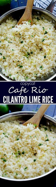 This cilantro lime rice tastes just like the one from Cafe Rio! It is so easy to make too!