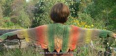 ABC Knitting Patterns - Autumn Leaves Small Triangular Shawl (Baktus) .