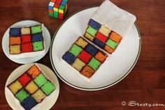 Totally doing this for my brother's birthday... Tutorial Tuesday: EPIC Rubik's Cake|Geek Crafts