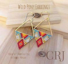 Bead Jewellery, Seed Bead Jewelry, Seed Bead Earrings, Seed Beads, Star Earrings, Hoop Earrings, Beading Tutorials, Beading Patterns, Bracelet Patterns