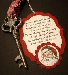 Santa's Magic Key by ddspaperpretties on Etsy, $5.00