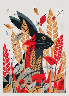 Hare print by Neil Stevens - $42.50 USD #art #illustration  #rabbit