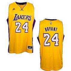 adidas Los Angeles Lakers Kobe Bryant Men's Home Swingman Jersey - Fangear.com