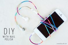 DIY: Nail Polish Colored Headphones