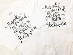 Hand Picked By My Brother or Sister Shirt or onesie® by OllieandPenny