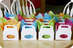 Cute Noodle boxes for the lolly buffet.