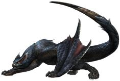 [Bat] Nargacura from Monster Hunter. I like how this enemy is based off a bat but has inspirations from wyverns/dragons as well making it look intimidating. Mythical Creatures Art, Mythological Creatures, Magical Creatures, Alien Creatures, Monster Design, Monster Art, Fantasy Dragon, Dragon Art, Creature Feature