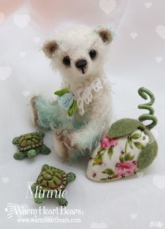 One-of-a-kind artist bear designed and created by Carolyn Robbins for Warm Heart Bears
