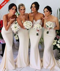 Best selling 2014 New  Bridesmaid Dresses Mint Green/Coral/Ivory/Hunter Bridesmiad Dresses  Mermaid Dress vestido madrinha