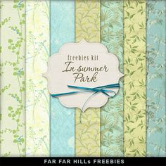 New Freebies Background Kit - In Summer Park