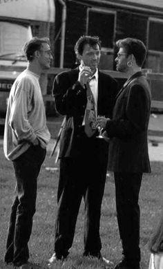 Andrew Ridgeley, Martin Kemp and George Michael
