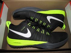 Nike Lunar TR1 Mens Training Shoes 11 Black Volt Dark Grey 652808 010 #Nike…