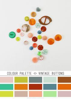 Colour Palette <> Vintage Buttons | Emma Lamb