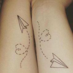 Small Best Friend Tattoos, Matching Best Friend Tattoos, Matching Tattoos, Bff Tattoos, Neue Tattoos, Script Tattoos, Maori Tattoos, Bodysuit Tattoos, Arrow Tattoos