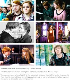 romione - Ron and Hermione Harry Potter Feels, Harry Potter Stories, Harry Potter Jokes, Harry Potter Fandom, Harry Potter World, Ron And Hermione, Ron Weasley, Ravenclaw, Hogwarts Alumni